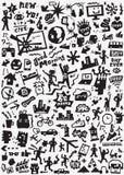 Τρόπος ζωής πόλεων doodles Στοκ Εικόνες