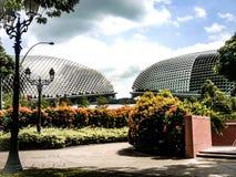 Τρόπος ζωής Σιγκαπούρη πύργων οικοδόμησης σύγχρονου σχεδίου Στοκ Εικόνα