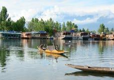 Τρόπος ζωής στη λίμνη DAL, Σπίναγκαρ Στοκ Εικόνες