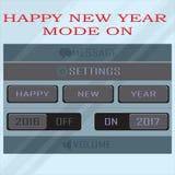 Τρόπος καλής χρονιάς 2017 επάνω διανυσματική απεικόνιση
