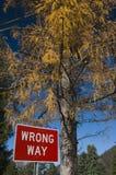 τρόπος λανθασμένος Στοκ φωτογραφία με δικαίωμα ελεύθερης χρήσης