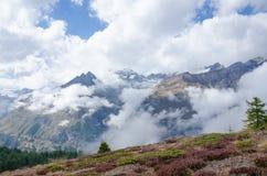 Τρόπος οδοιπορίας σε Sunnegga Ελβετία με το μπλε ουρανό Στοκ Εικόνα