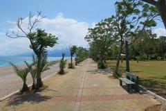 Τρόπος περπατήματος στην παραλία Konyaalti σε Antalya - την Τουρκία Στοκ φωτογραφίες με δικαίωμα ελεύθερης χρήσης