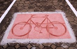 Τρόπος ποδηλάτων Στοκ Εικόνες
