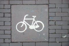 Τρόπος σημαδιών ποδηλάτων Στοκ εικόνες με δικαίωμα ελεύθερης χρήσης