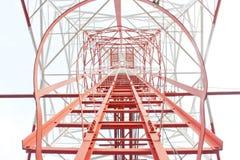 Τρόπος σκαλοπατιών στο tob του πύργου Στοκ Εικόνες