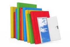 Τρόπος στην έννοια γνώσης, εκπαίδευσης και ανάγνωσης Στοίβα του χρώματος Στοκ Εικόνα