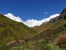 Τρόπος στο στρατόπεδο βάσεων Annapurna Στοκ Εικόνες