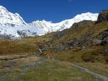 Τρόπος στο στρατόπεδο βάσεων Annapurna Στοκ Εικόνα