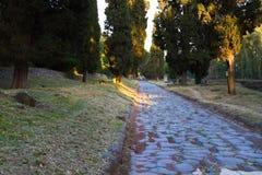 Τρόπος Appian (μέσω Appia) στη Ρώμη, Ιταλία Στοκ φωτογραφία με δικαίωμα ελεύθερης χρήσης
