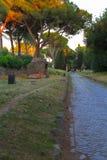 Τρόπος Appian (μέσω Appia) στη Ρώμη, Ιταλία Στοκ Εικόνες