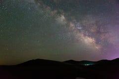 Τρόπος Miky στον ουρανό στοκ φωτογραφίες με δικαίωμα ελεύθερης χρήσης