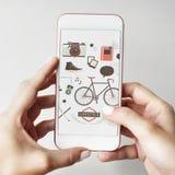 Τρόπου ζωής σε απευθείας σύνδεση έννοια μέσων δραστηριότητας κοινωνική Στοκ Εικόνα