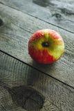 τρόφιμα έννοιας ανασκόπησης μήλων ξύλινα Στοκ φωτογραφία με δικαίωμα ελεύθερης χρήσης