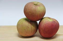 τρόφιμα έννοιας ανασκόπησης μήλων ξύλινα Στοκ εικόνες με δικαίωμα ελεύθερης χρήσης