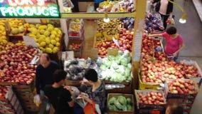 Τρόφιμα αγοράς πελατών απόθεμα βίντεο