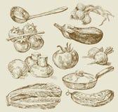τρόφιμα ανασκόπησης Στοκ Εικόνες