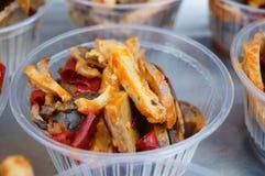 Τρόφιμα ανθρώπων της Μογγολίας, εντόσθια βόειου κρέατος Στοκ Φωτογραφίες