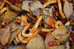Τρόφιμα ανθρώπων της Μογγολίας, εντόσθια βόειου κρέατος Στοκ φωτογραφία με δικαίωμα ελεύθερης χρήσης