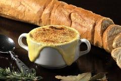 Τρόφιμα: γαλλική σούπα ένωσης Στοκ Φωτογραφίες