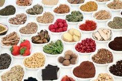 Τρόφιμα για την καλή σεξουαλική υγεία Στοκ Εικόνες