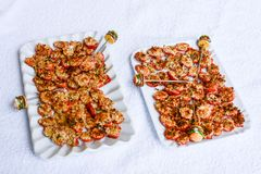 Τρόφιμα δάχτυλων για τα υγιή τρόφιμα Στοκ Εικόνες
