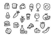 Τρόφιμα εικονιδίων, διάνυσμα Στοκ Φωτογραφίες