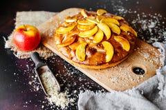 Τρόφιμα, επιδόρπιο, ζύμες, πίτα Νόστιμη όμορφη πίτα μήλων στοκ εικόνες με δικαίωμα ελεύθερης χρήσης