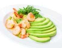 Τρόφιμα εστιατορίων που απομονώνονται - γαρίδες στην άσπρη σάλτσα σκόρδου κρασιού Στοκ φωτογραφία με δικαίωμα ελεύθερης χρήσης