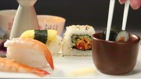 Τρόφιμα - ιαπωνικά σούσια Στοκ φωτογραφίες με δικαίωμα ελεύθερης χρήσης