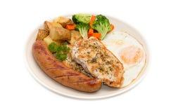 Τρόφιμα διατροφής, καθαρή κατανάλωση, πρόγευμα Στοκ Φωτογραφίες