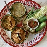 τρόφιμα καθορισμένος Ταϊλανδός στοκ φωτογραφία με δικαίωμα ελεύθερης χρήσης
