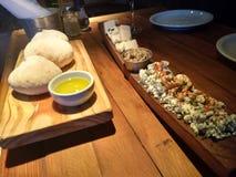 Τρόφιμα και έλαιο τυριών στοκ εικόνα
