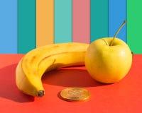 Τρόφιμα και έννοια χρηματοδότησης Στοκ Εικόνες