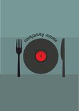 Τρόφιμα και μουσική Στοκ φωτογραφία με δικαίωμα ελεύθερης χρήσης
