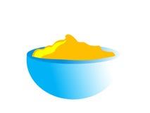τρόφιμα κύπελλων μωρών απεικόνιση αποθεμάτων