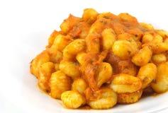 Τρόφιμα Κλείστε επάνω του πιάτου μπουλεττών πατατών Στοκ Φωτογραφία