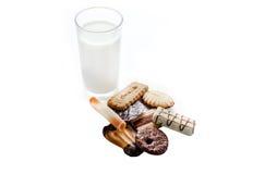 Τρόφιμα μπισκότων γάλακτος Στοκ εικόνες με δικαίωμα ελεύθερης χρήσης