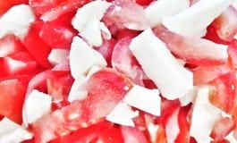 Τρόφιμα - ντομάτες και μοτσαρέλα Στοκ εικόνες με δικαίωμα ελεύθερης χρήσης