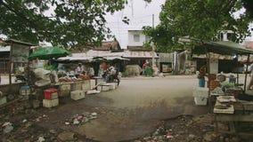 Τρόφιμα οδών, άνεμοι, Καμπότζη, Νοτιοανατολική Ασία απόθεμα βίντεο