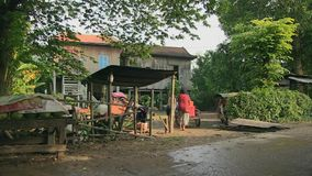 Τρόφιμα οδών, επαρχία, Καμπότζη, Νοτιοανατολική Ασία απόθεμα βίντεο