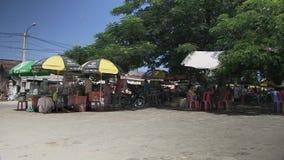 Τρόφιμα οδών, πωλητής, Καμπότζη, Νοτιοανατολική Ασία απόθεμα βίντεο