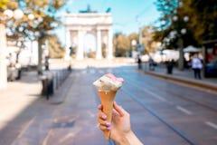 Τρόφιμα οδών στην πόλη του Μιλάνου Στοκ εικόνες με δικαίωμα ελεύθερης χρήσης