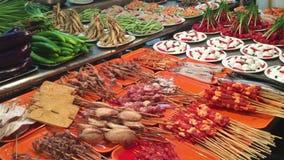 Τρόφιμα οδών στη Σαγκάη απόθεμα βίντεο