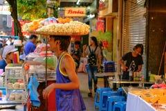 Τρόφιμα οδών στο δρόμο πόλης Yaowarat της Κίνας Στοκ φωτογραφίες με δικαίωμα ελεύθερης χρήσης
