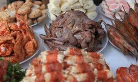 Τρόφιμα οδών, bbq από την πλευρά οδών Στοκ Εικόνες