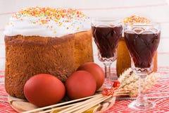 τρόφιμα Πάσχας παραδοσια&kap Στοκ Φωτογραφία