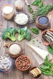 Τρόφιμα πλούσια σε ασβέστιο στοκ εικόνα