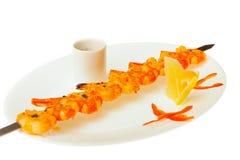 Τρόφιμα που απομονώνονται στο άσπρο υπόβαθρο Στοκ Φωτογραφίες