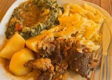 Τρόφιμα που μαγειρεύονται υγιή Στοκ Φωτογραφίες